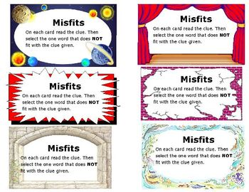 Vocabulary Development-MISFITS