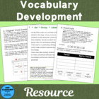 Vocabulary Development Strategies