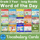 Vocabulary Development Word of the Day Cards for the whole year