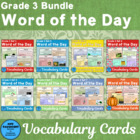 Vocabulary Development Word of the Day Combo A Sets 1 - 3