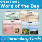 Vocabulary Development: Word of the Day Set 2 Third Grade
