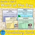 Vocabulary Development Word of the Day Set 3 Third Grade
