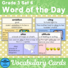 Vocabulary Development Word of the Day Set 6 Third Grade