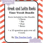 Vocabulary Exercise: Greek and Latin Roots - It&#039;s about Time!