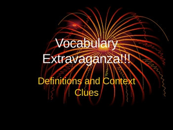 Vocabulary Extravaganza!