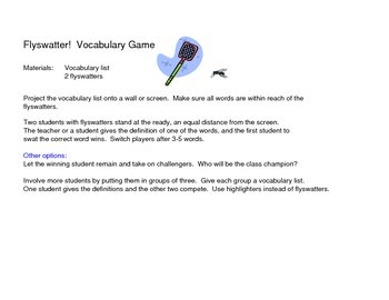 Vocabulary Flyswatter Game