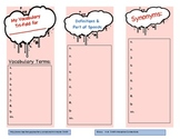 Vocabulary Foldable: Tri-Fold Organizer for Terms in any Subject