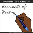 Vocabulary Fun: Elements of Poetry {Game & Activity Pack}