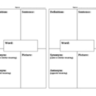 Vocabulary Graphic Organizer - Create a Vocabulary Book!