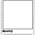 Vocabulary Graphic Organizer Free Printable
