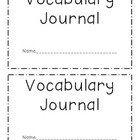 Vocabulary Journal/Booklet