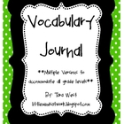 Vocabulary Journal/Dictionary