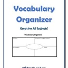 Vocabulary Organizer (All Subjects)