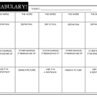 Vocabulary Organizer Chart