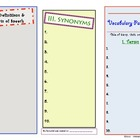 Vocabulary Pamphlet Foldable (Version 2)