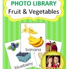 Vocabulary Photo Library - Fruit &amp; Vegetables Flashcards