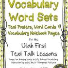 Vocabulary Posters, Word Cards &amp; Student Sheets Aligned to