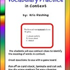 Vocabulary Practice in Context