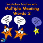 Vocabulary Practice with Multiple Meaning Words 2