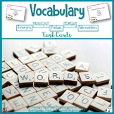 Vocabulary Review: Scoot or Task Cards