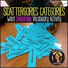 Vocabulary Scattergories Categories Comparison Activity ANY Class
