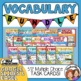 Vocabulary Task Cards: 16 Set Bundle (CCSS Aligned)