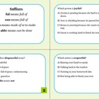 Vocabulary Task Cards - Suffixes