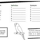 "Vocabulary Trifold - ""Papa's Parrot"""