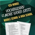 Vocabulary: Twelve More Lists