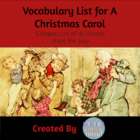 Vocabulary Word List for A Christmas Carol