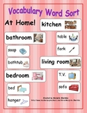 Vocabulary Word Sort - At Home!