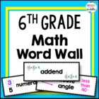 Vocabulary Word Wall - 6th Grade Math