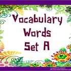 Vocabulary Word of the Day Set A (words)