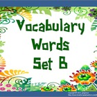 Vocabulary Word of the Day Set B (words)