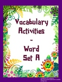Vocabulary Word of the Day set A (activities)