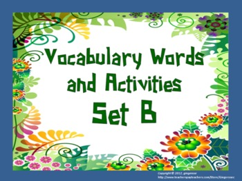 Vocabulary Word of the Day set B bundle pack