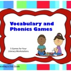 Vocabulary and Phonics Games - Treasures Unit 3