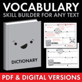 Vocabulary in Context, Fun Worksheet to Use with ANY Text,