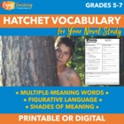 Vocabulary with Hatchet Lesson Plans