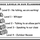 Voice Levels in our Classroom