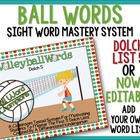Volleyball Words-Dolch 5 Words Master System for Common Core