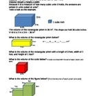 Volume Worksheet for 4th,5th, or 6th