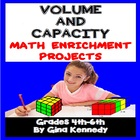 Volume and Capacity Math Differentiated Project Menu w/ vo
