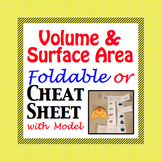 Volume and Surface Area of 3-D Figures - Cheat Sheet - Fol