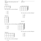 Volume of Cubes Worksheet