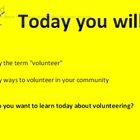 Volunteers:  The Helping Job