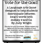 Vote for the Goat! Long O - /oa/ and sneaky e