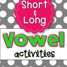 Vowel Activities *Mega Pack* for Short and Long Vowels