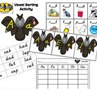 Vowel Bat Sorting Activity