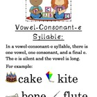 Vowel Consonant e anchor chart *FREEBIE